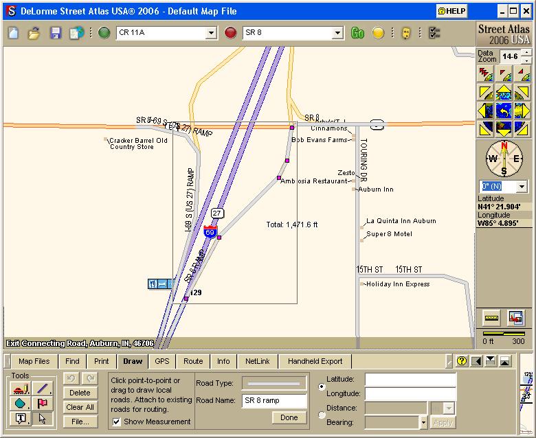Creating Onramps in Street Atlas with GPSBabel